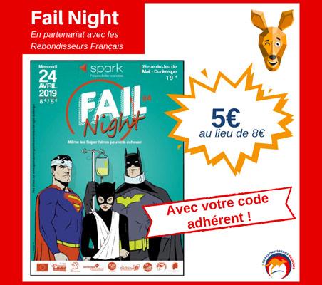 Fail Night à Dunkerque le 24 avril 2019 à 19H, en partenariat avec les Rebondisseurs