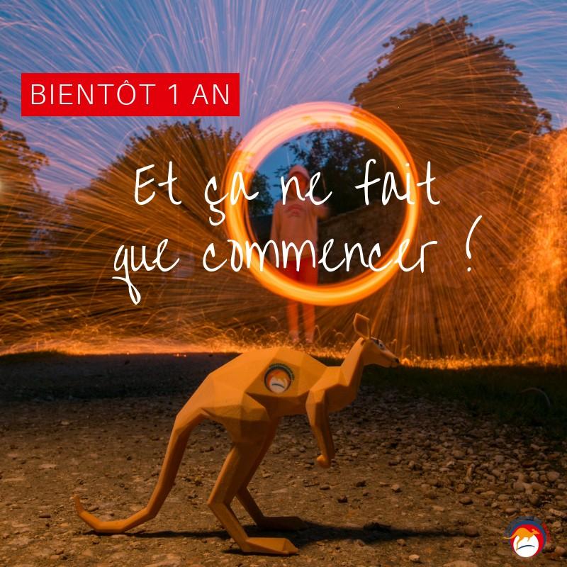 Bientôt 1 an Les Rebondisseurs Français