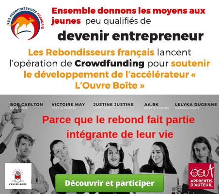 Les Rebondisseurs Français lancent la campagne de crowdfunding pour soutenir l'accélérateur